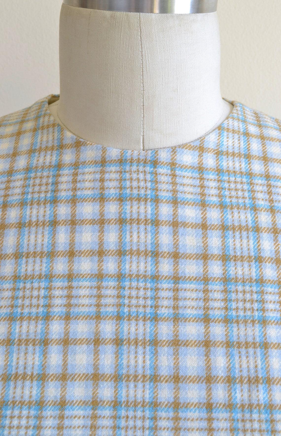 Vintage 1970s  'Zephyr'  Wool Sheath Dress in a