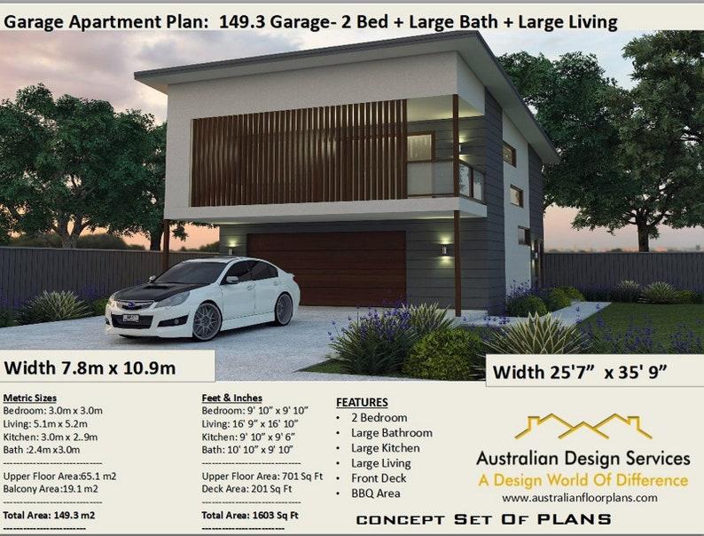 2 bedroom garage apartment plans no 1493 living area 651