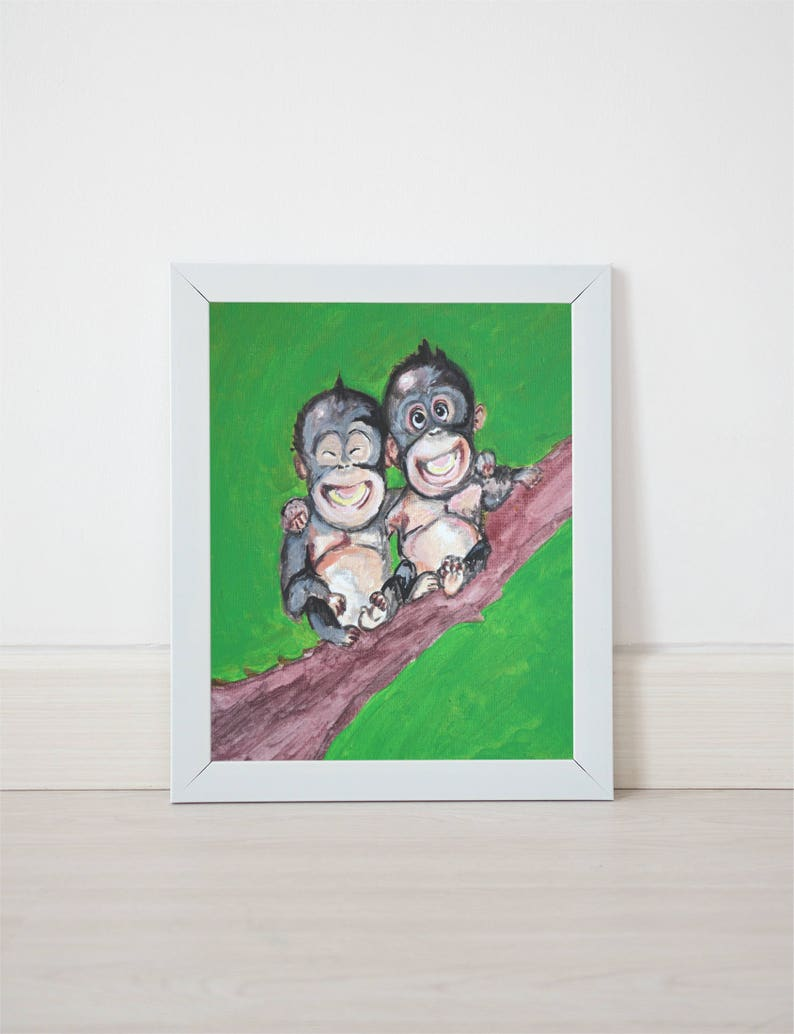 colorful monkey print monkey themed nursery monkey themed baby image 0