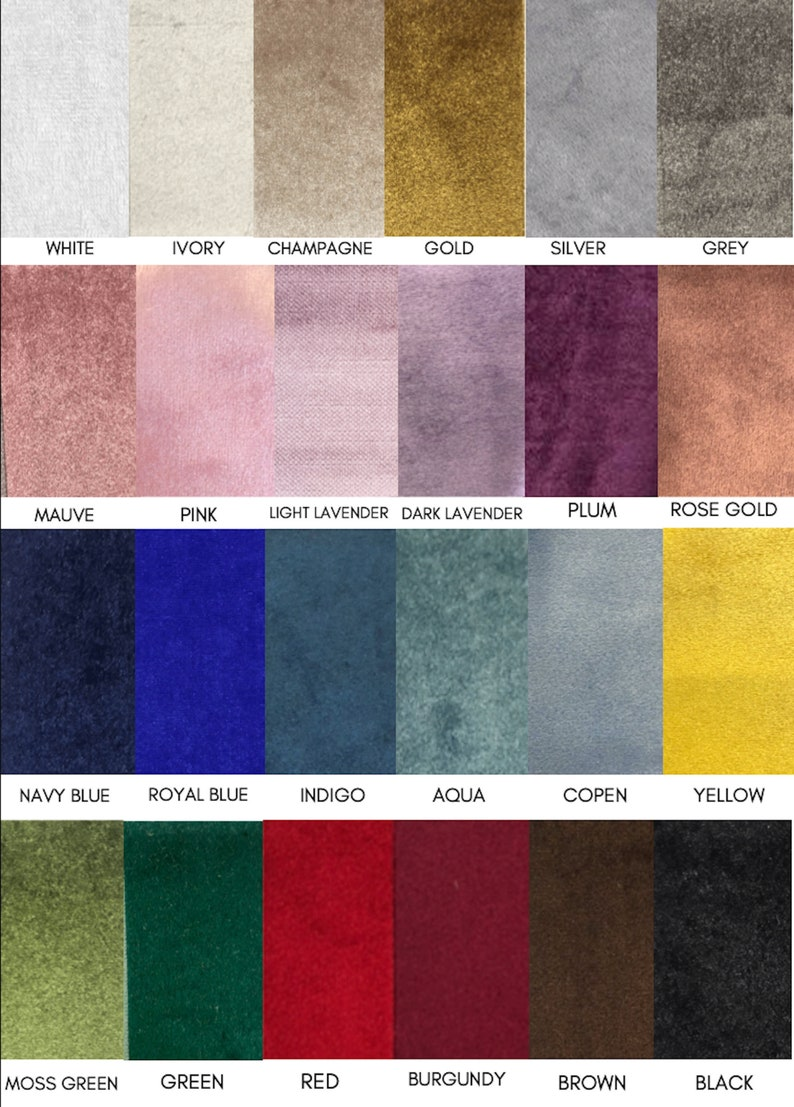 Velvet Sample Velvet Color Swatch Custom Velvet Curtains image 0