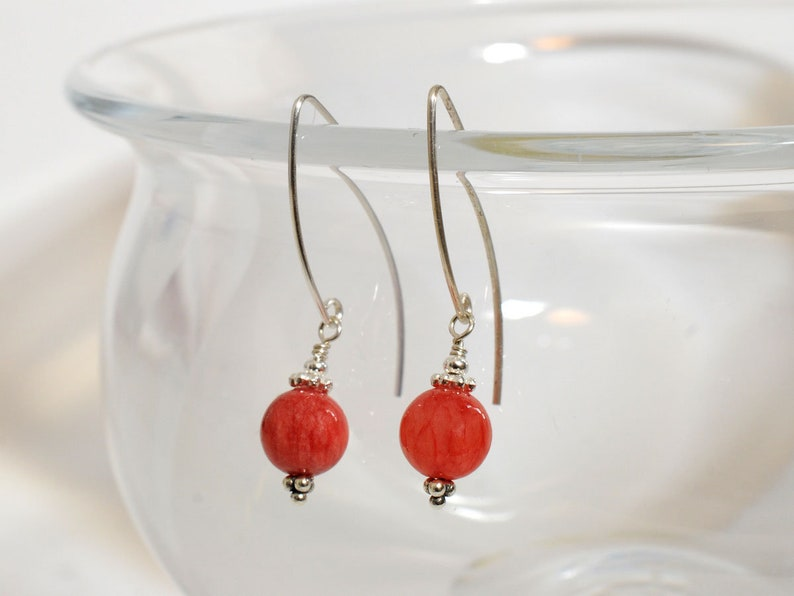 Rhodochrosite gemstone earrings image 0