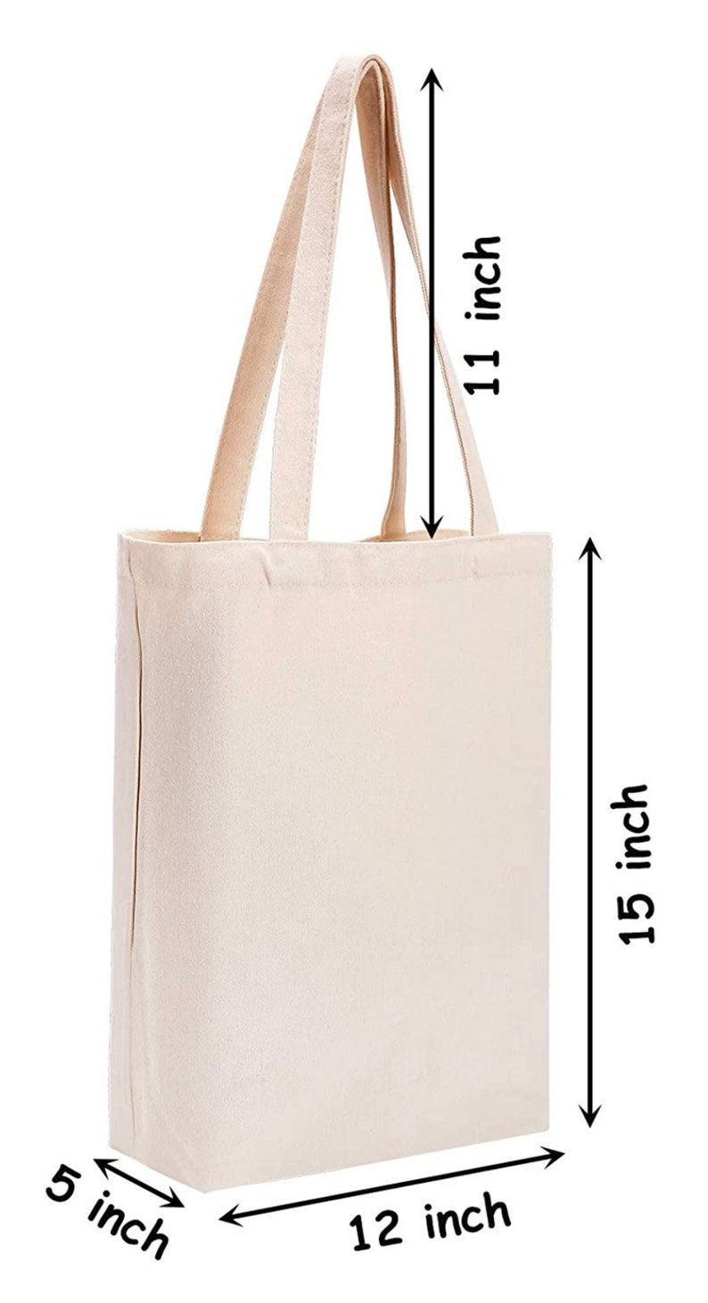 No Plastic CACTUS with your Name Cotton Canvas Tote Custom Canvas Reusable Bag Save the Environment Earth Friendly No Paper