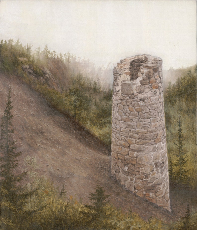 Print of Steam Shaft Stack No. 4 by Joshua Moore image 0