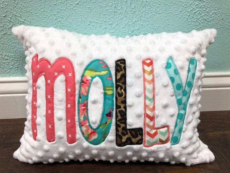 Girl Or Boy Applique Name Pillow Cover