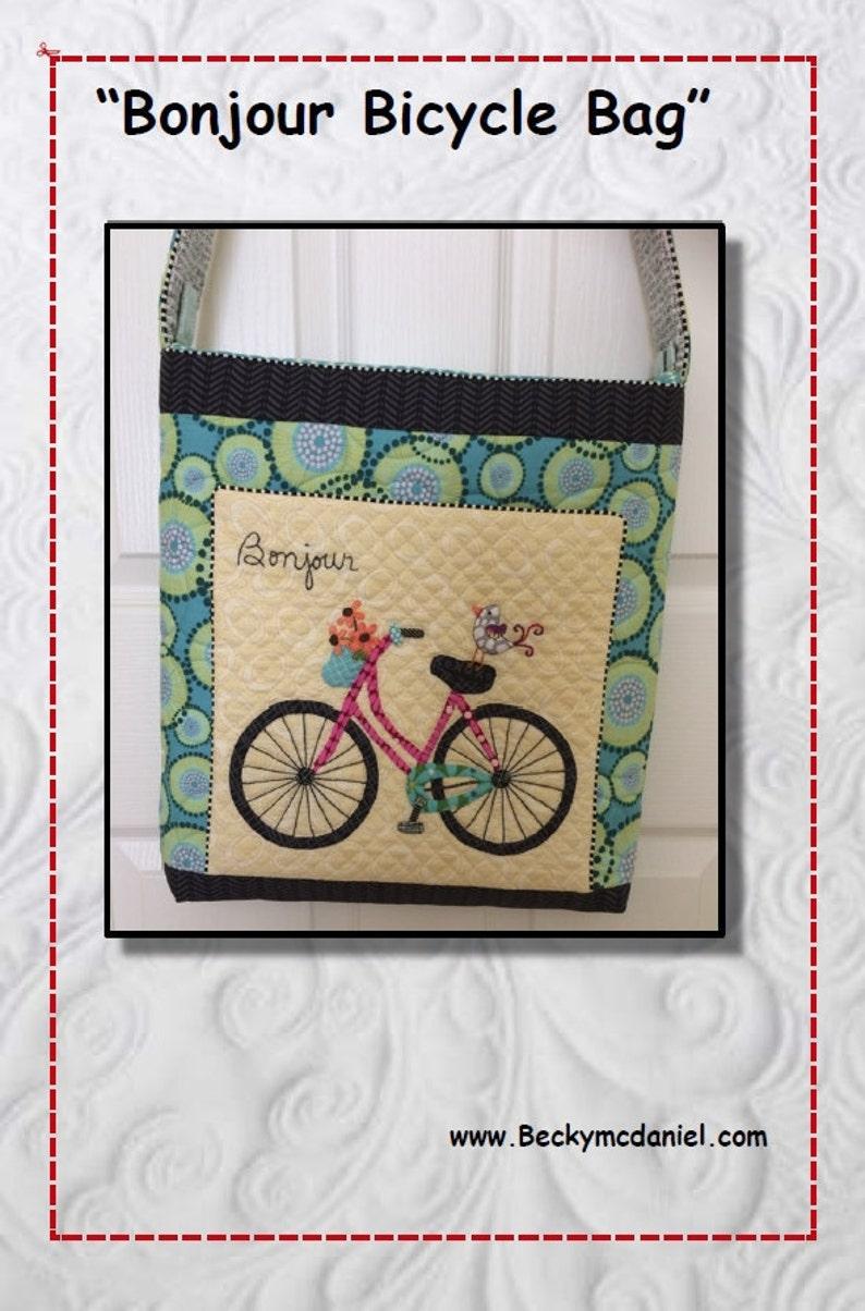 Bonjour Bicycle Bag Pattern digital pdf download image 0