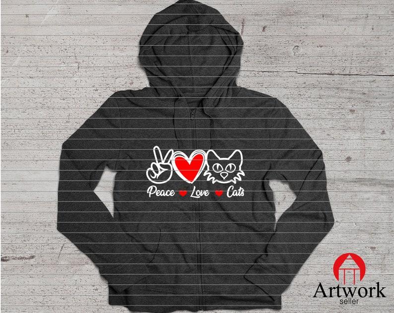cut dxf png PEACE LOVE CAT cat love cats svg peace love cut file peace svg love svg cat animal Clipart Cut Cutting eps