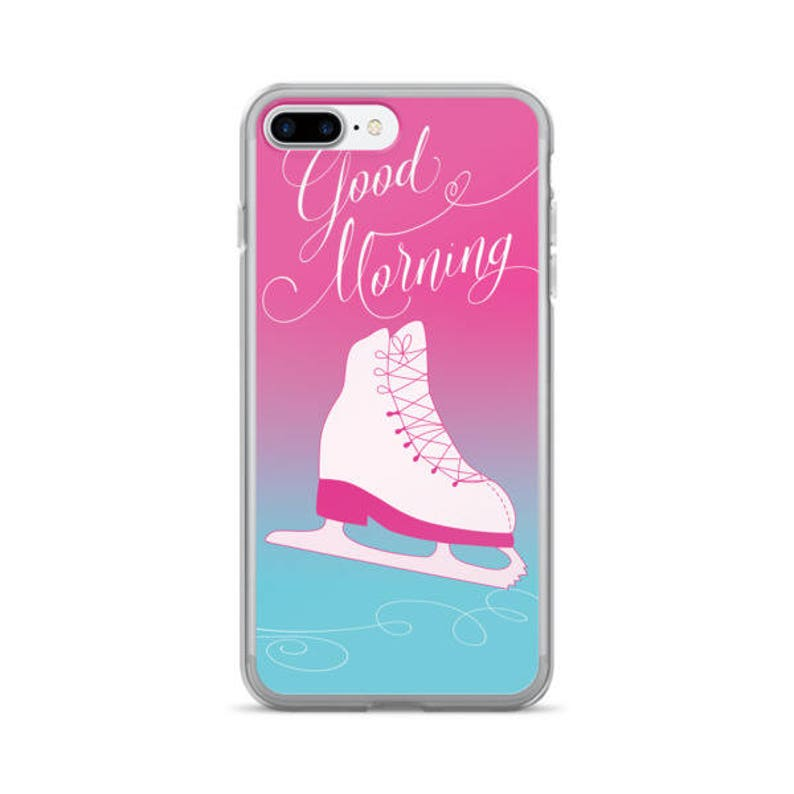 Figure Skater iPhone 7/7 Plus Case in Pink Scratch-Resistant image 0