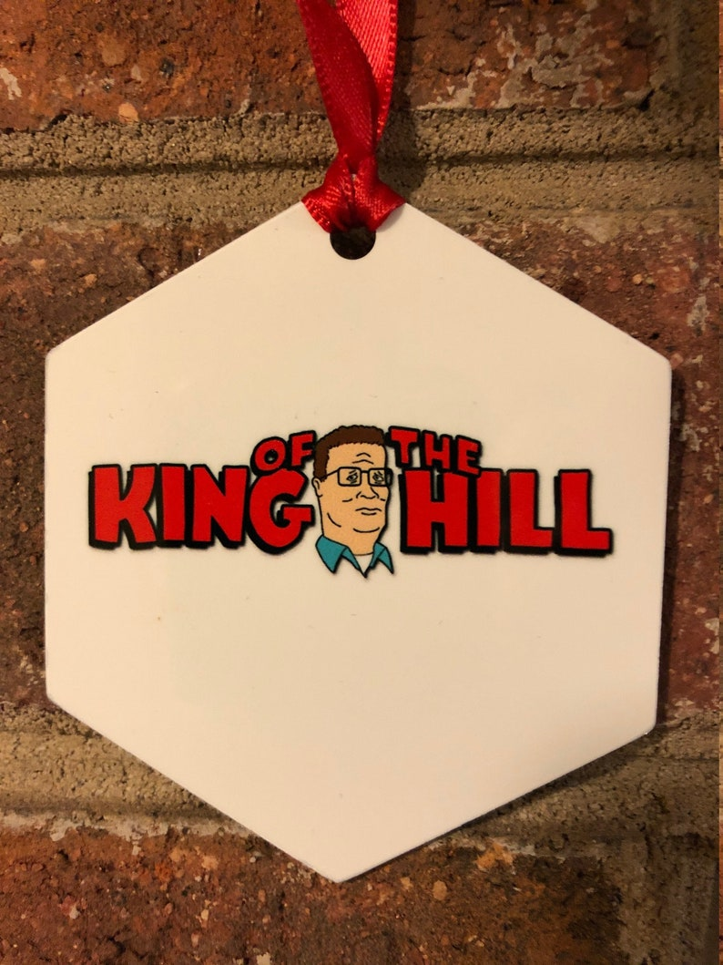 King Of The Hill Aluminum Christmas Ornament