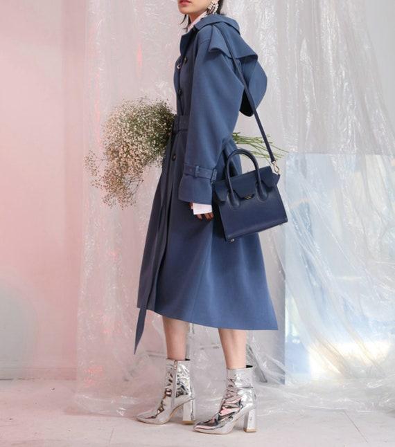 Velvet Blazer Jacket Crushed Avant Garde Party Cocktail Boho Festival Womens Blue Coat Velour Bomber Suit Retro Vintage Runway