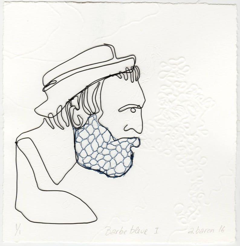 ORIGINAL ARTWORK  Blue Beard v. I Original work on paper image 0