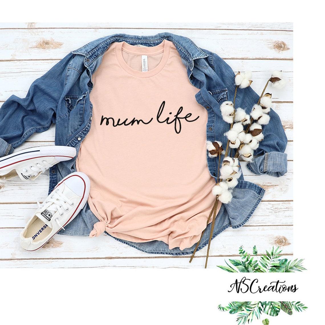 Mum life shirt / Mama Mothers day shirt/ custom tee/ gift for image 0