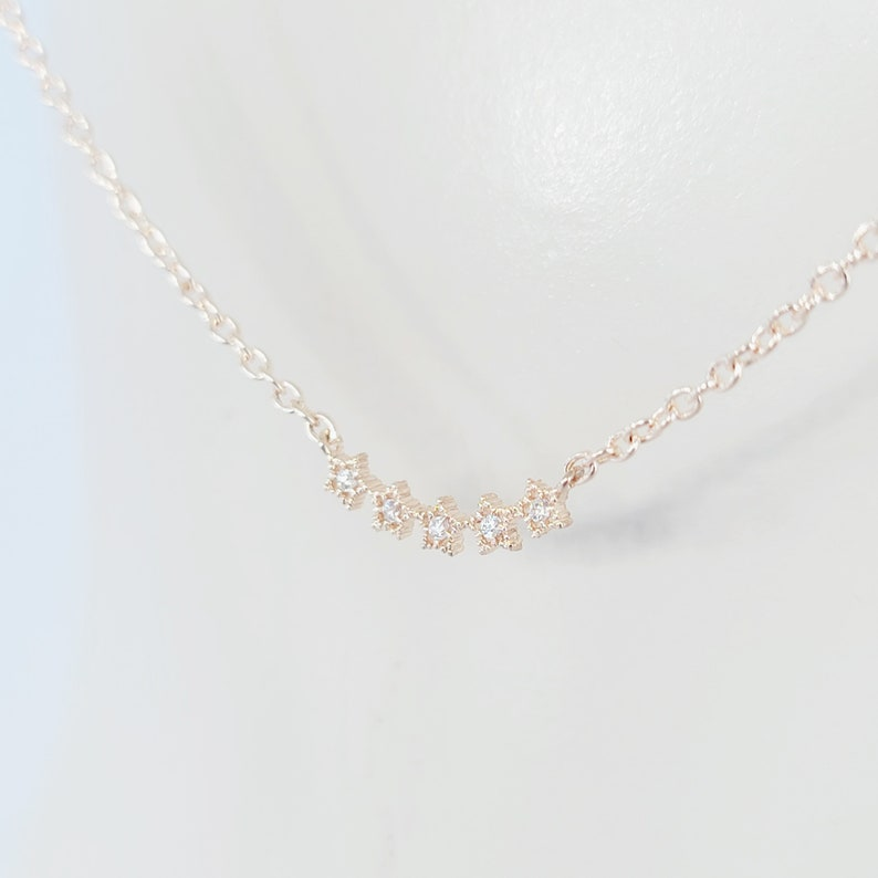 MATURE Rose Gold with Stars and Nipple Rings or Clamps Non Piercing Nipple Chain
