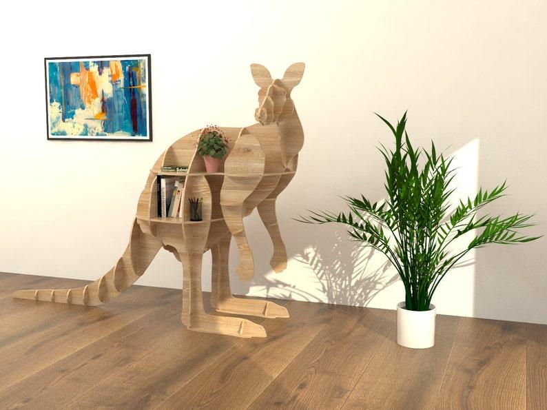 Kangaroo Shelf Dxf Plan Laser Cutting File Home Decor
