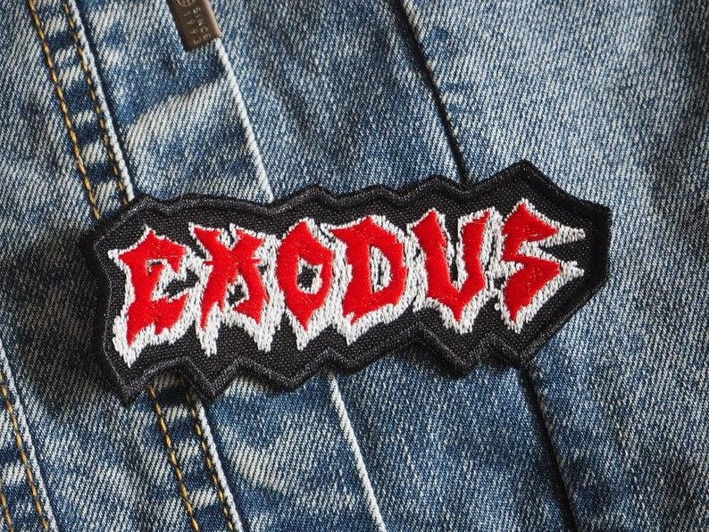 EX0DUS Embroidered Patch Thrash Metal
