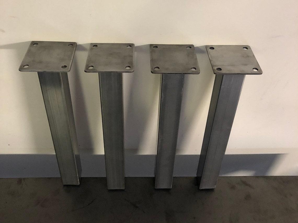 Metal table legs - Post Legs - Bench legs - Bar legs - Dinning table legs ( set of 4)