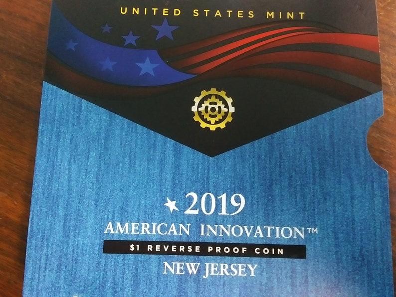 2019 Reverse Proof Innovation Dollar New Jersey