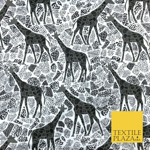 Grey Magical Unicorn Sparkle Winceyette Soft Brushed Cotton Print Fabric 1407