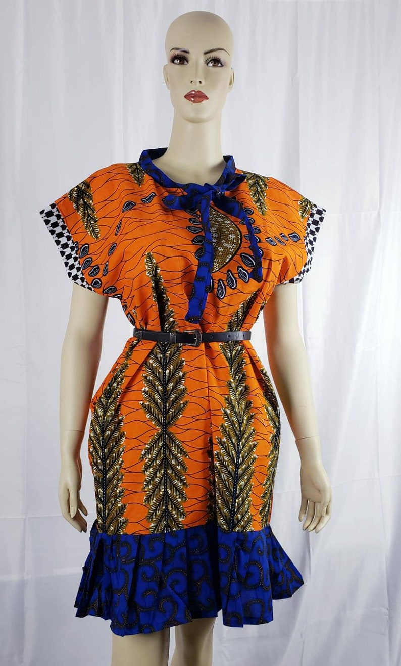 Ankara Dress African Ankara Shift Dress Women/'s Dress Mix and Match