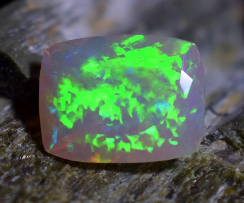 8.50 Carat Opal Size 17.8x13.9x7.9 MM AAA++ Quality Natural Ethiopian Opal Loose Gemstone Baguette Shape Opal