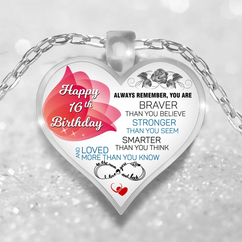 sweet 16 gift Happy 16th birthday necklace 16th birthday gift girl necklace sweet 16 necklace gift for 16 year old girl sys16th