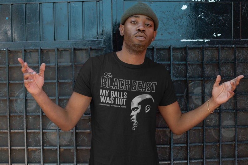 The Black Beast Derrick Lewis MMA Fighter Wear Graphic Unisex Black