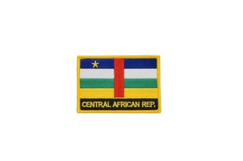 on or Sew On Central African Rep Patch  Central African Rep Flag Patch  Iron