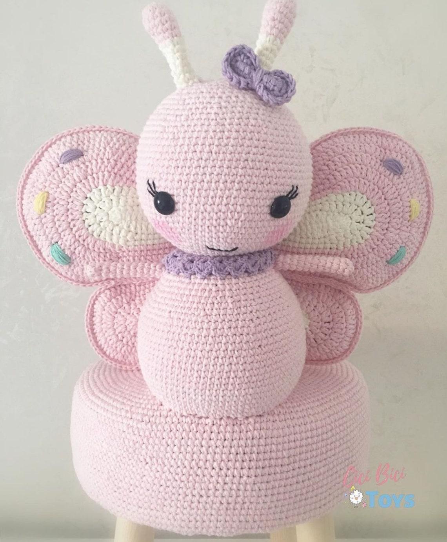Amigurumi Children's Stool Butterfly Knitting Toys