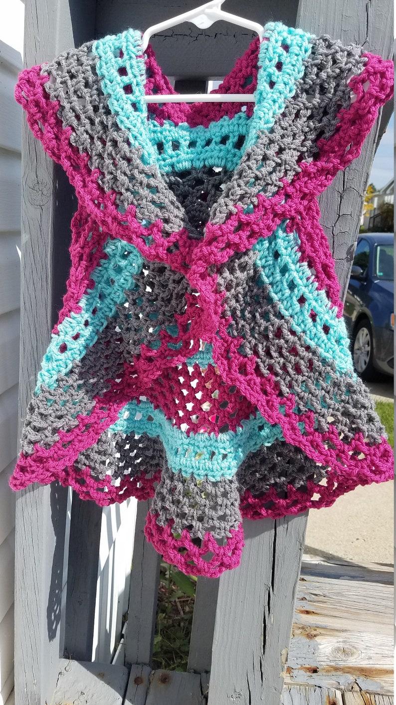 2T3T Toddler Girls Crochet Vest