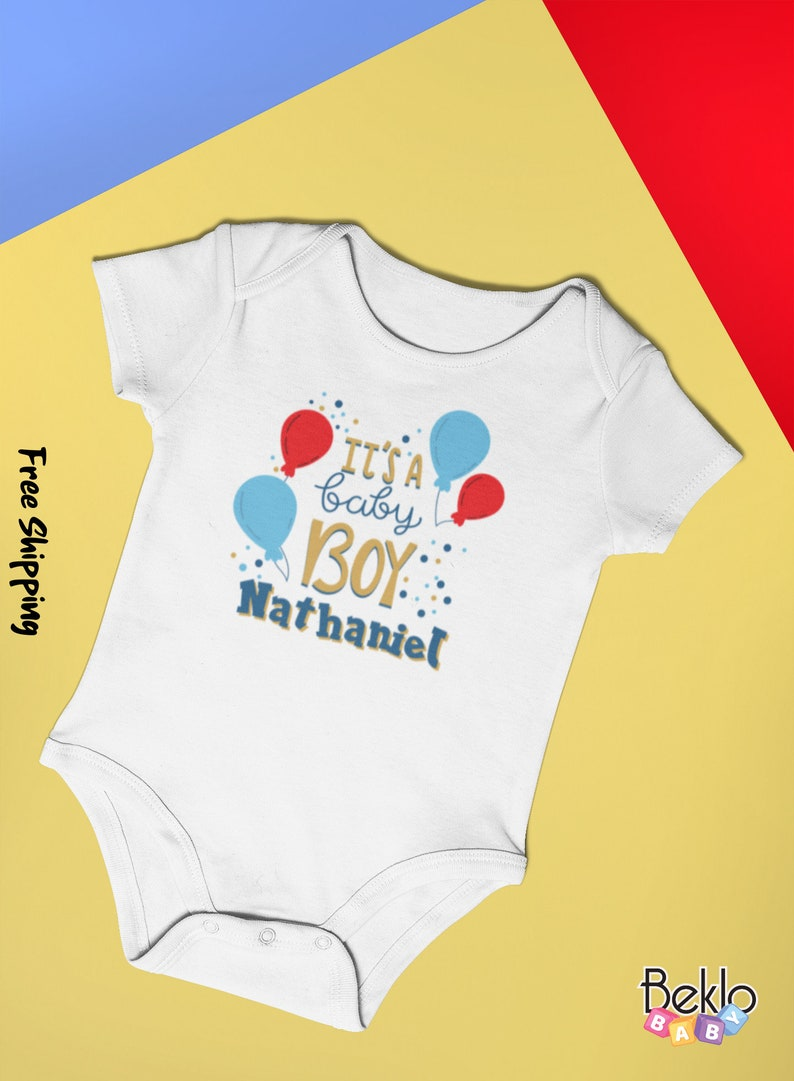 New Baby Gifts Custom Baby Bodysuit Baby Gifts Baby Clothes Cotton Made in USA