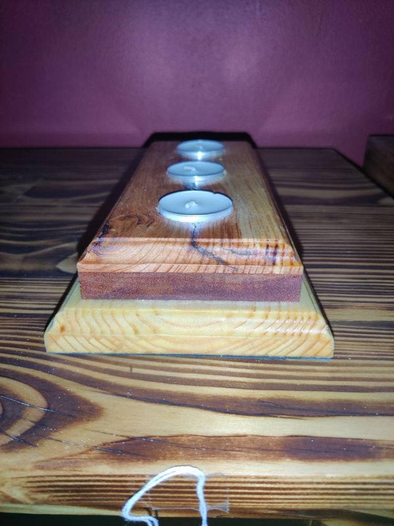 Tea Light Candle Holder  Wood Candle Holder  Handmade /& Handcrafted  Candle Stand  Simple  Minimalist  Sleek  Decor  Decoration