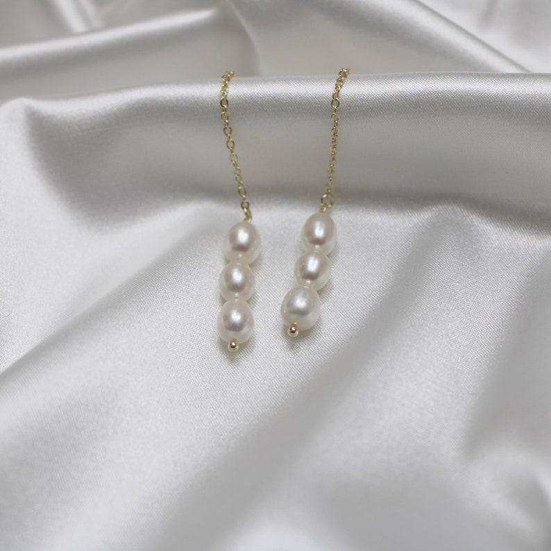 Handmade Jewelry 14k Gold Plated Pearl Necklace Everyday Jewelry June Birthstone Gift Bridesmaid Gift Minimalist Jewelry