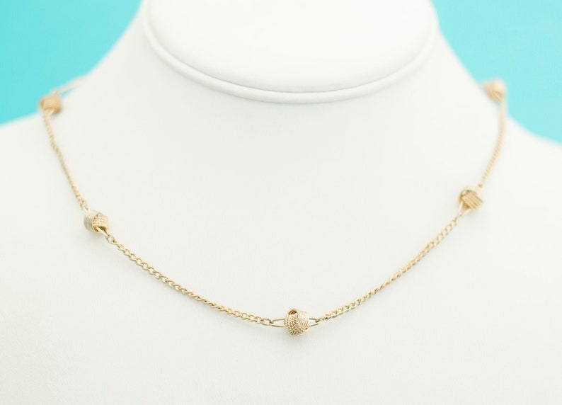 Vintage Gold Choker Necklace 16 Inches by Avon E11