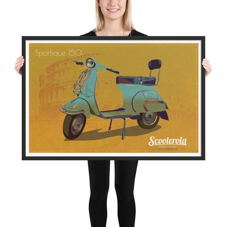 Vespa GS Sportique 150 Framed matte paper poster image 0