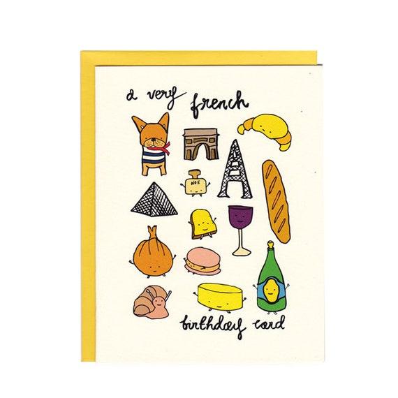 a very french birthday card etsy a very french birthday card