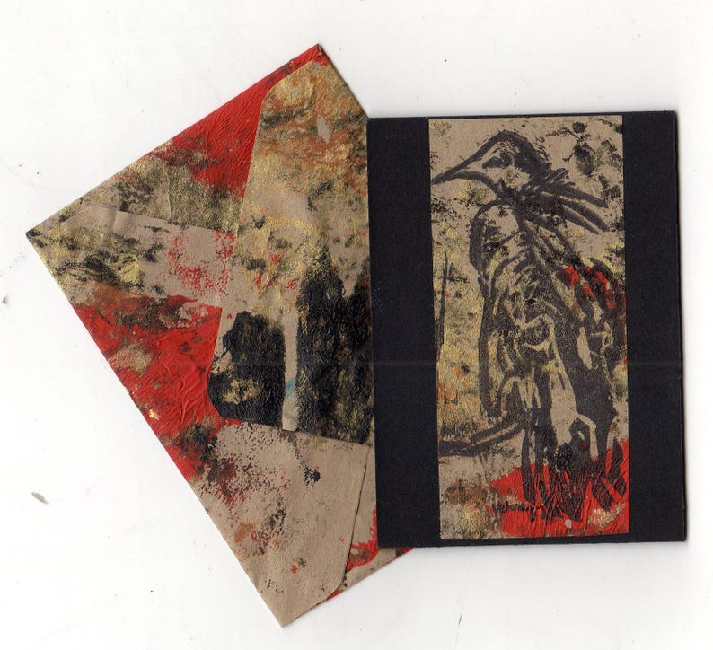 Vulture ATC ACEO with matching envelope image 0