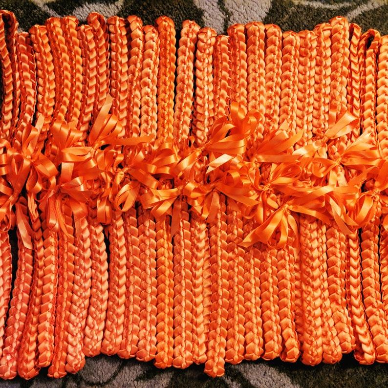 12-pack Single braid ribbon lei image 0