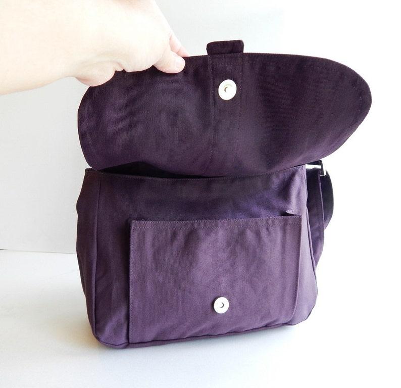 Women Handbag Plum Canvas Messenger bag Sale Laptop ERIN School Bag Diaper Bag Crossbody Purse Tote