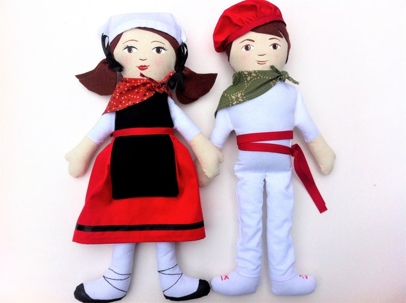 Custom Traditional Folk Costume Doll Pair Exquisite Details image 0
