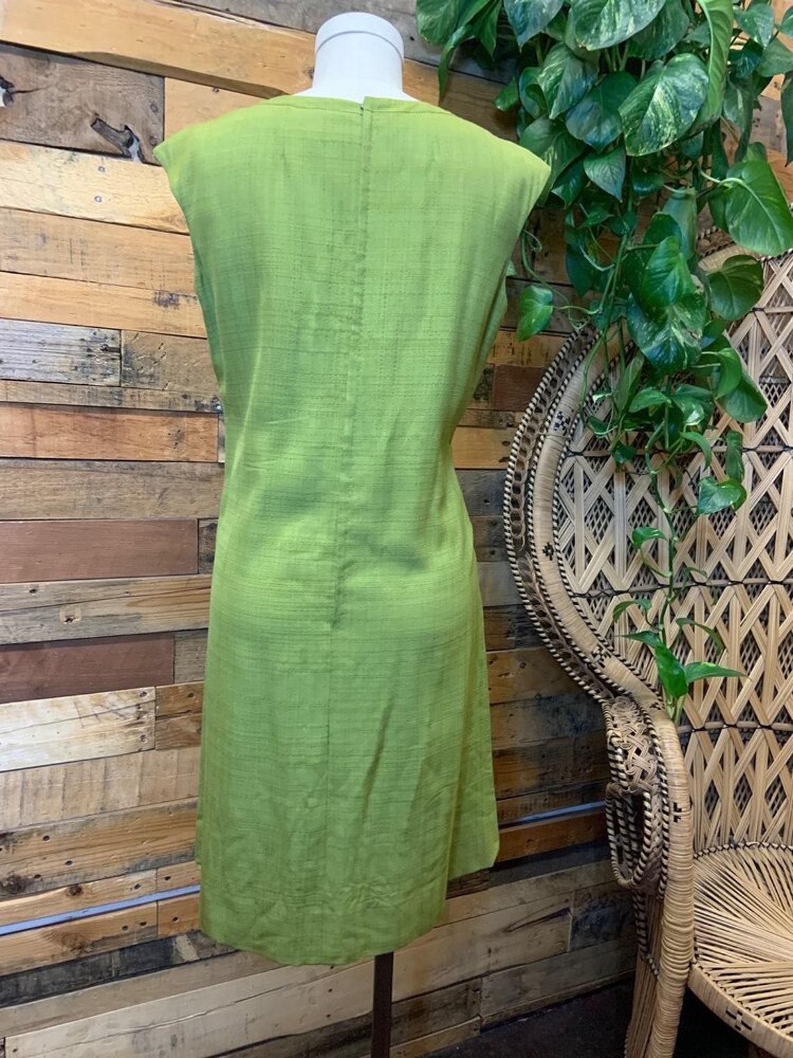 60s Mod Avocado Dress