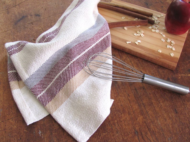 Woven Kitchen Dish Towel Artisan Cooking Baking Gift Gourmet image 0