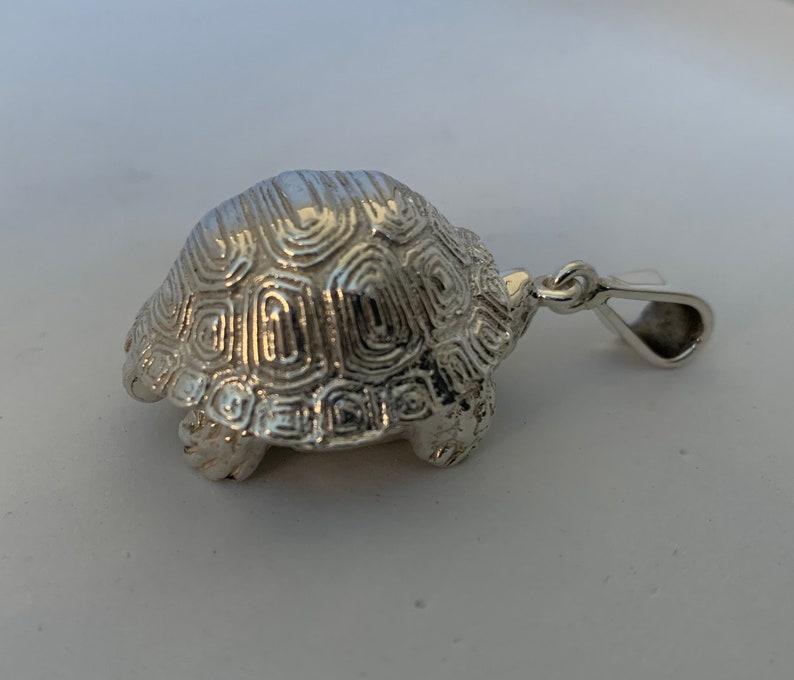 Turtle Silver Secret COMPARTMENT CLIP Stash Box Pendant