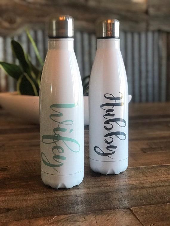Wedding Couple Water Bottles Personalized Water Bottle Etsy
