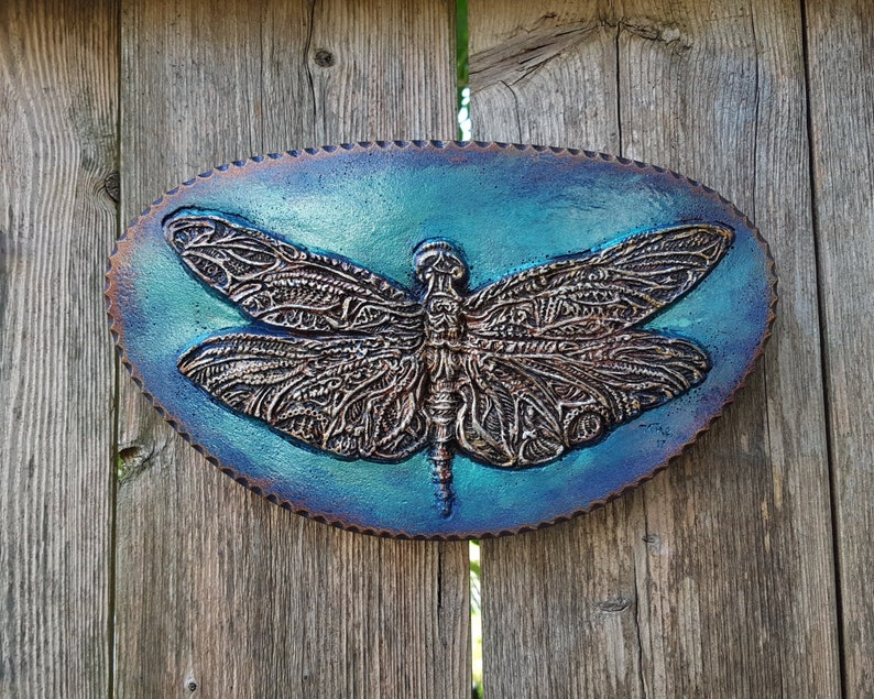 Dragonfly Lake House Decor Garden Gifts Stone Sculpture image 0