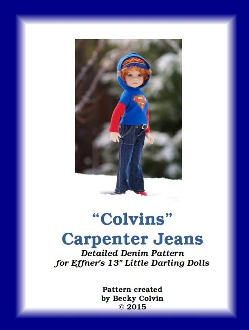 Colvins Carpenter Jeans PDF sewing pattern for 13 Effner image 0