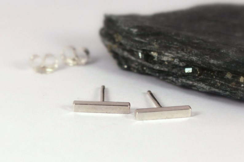 Square Bar Studs Sterling Silver Made to Order image 0