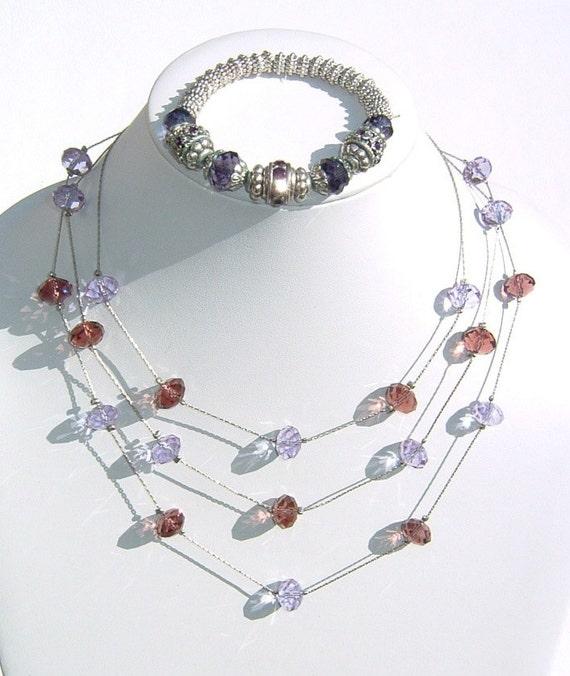 /& Tarnished Alloy Metal in Robin Egg Blue and Sand Color Beaded Bracelets! Resin Oceanic 3 Single Strands of Glass