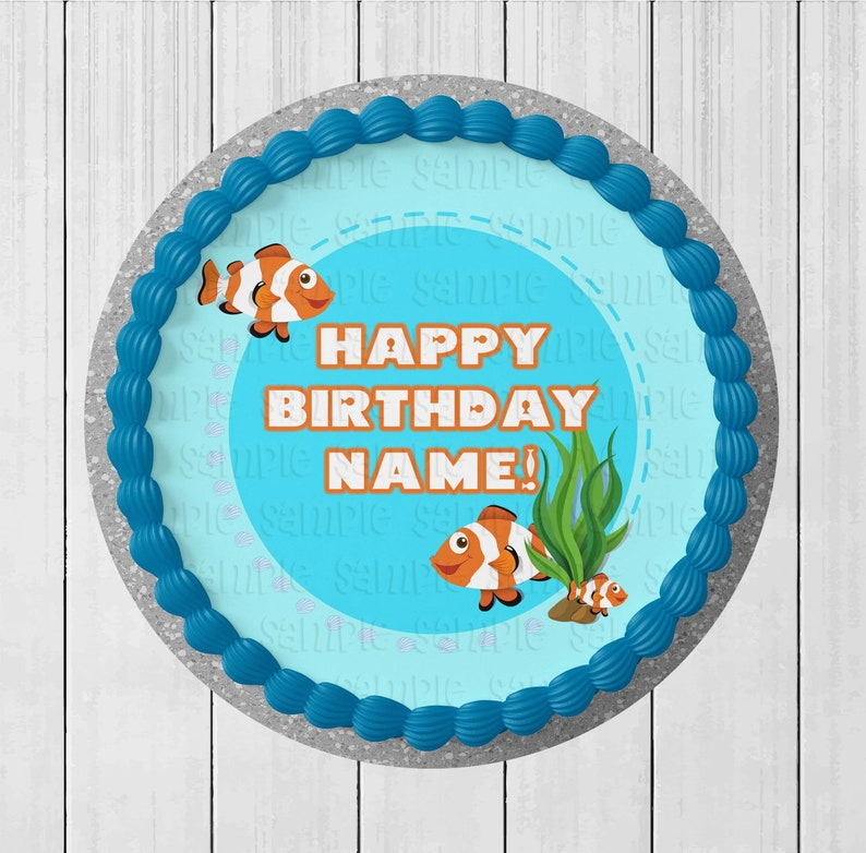 Under the Sea Choose From Drop-Down Menu Cake Wraps or Full Set Icing Image Birthday Decoration Edible Round Cake Topper
