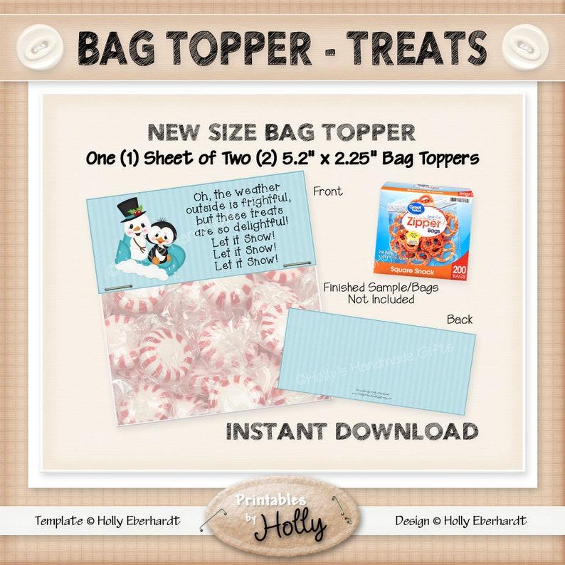 Beginner Project Bag Topper SALE!! HEBER/_1752 Instant Download Printable TREATS Winter