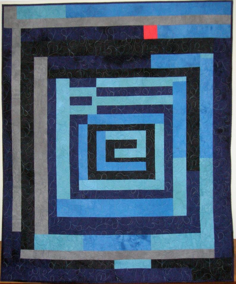 Gee's Bend Housetop Denim Quilt image 0