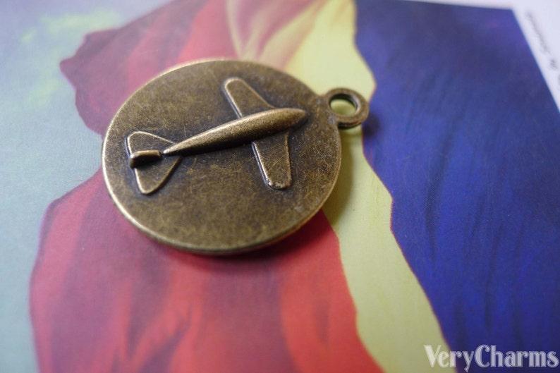 10 pcs of Antique Bronze Round Plane Back Cameo Base Settings Match 18mm Cabochon A5356